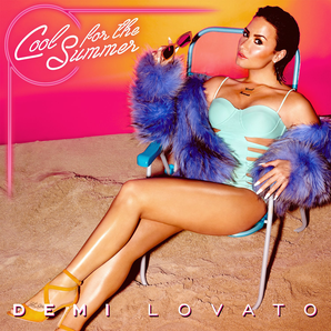 "Demi Lovato in her ""Cool For The Summer"" cover art"