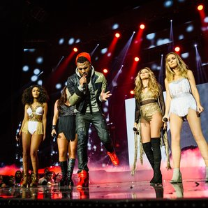 Little Mix and Jason Derulo at the  Jingle Bell Ba