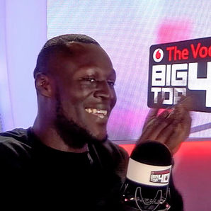 Stormzy No.1 In the Vodafone Big Top 40 studio